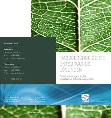 massgeschneiderte entsorgungs - Steuber - Partner der Druck- und ...