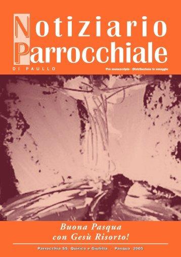 notiziario parrocchiale in versione pdf - Parrocchiadipaullo.It