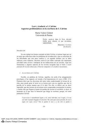 María Valero Gisbert (Università di Parma) - Centro Virtual Cervantes