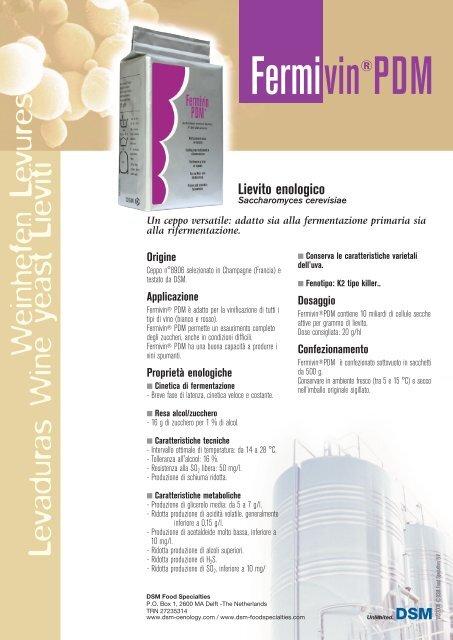 Fermivin® PDM - Scheda di Prodotto (IT) - Oenobrands com