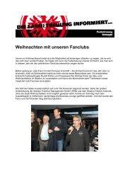 Weihnachten mit unseren Fanclubs - Eintracht Frankfurt