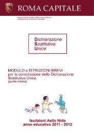 Dichiarazione Sostitutiva Unica (DSU) - Comune di Roma