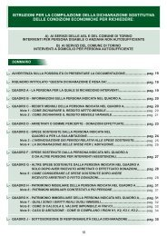 Istruzioni per la compilazione della D.S.E. - Città di Torino