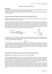 l'equivalente Joule - caloria - Pagina del prof M. Savarese