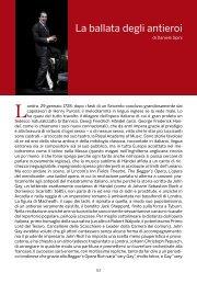 La ballata degli antieroi di Daniele Spini - Teatro Alighieri
