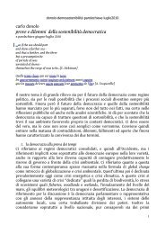 Demosostenibilità - Sapienza Università di Roma