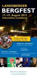 Programmflyer Bergfest 2012 (Download-PDF) - Landsberg