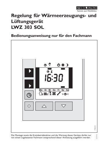Regelung für Wärmeerzeugungs- und Lüftungsgerät ... - Stiebel Eltron
