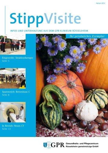 StippVisite Herbst 2012 - GPR Gesundheits- und Pflegezentrum ...