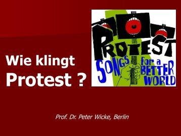 Wie klingt Protest - Stiftung Demokratie Saarland