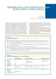 Disordini della deglutizione nella pratica medica ambulatoriale - Simg