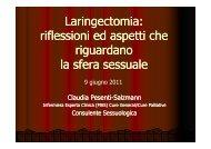 Laringectomia riflessioni ed aspetti che riguardano la sfera sessuale