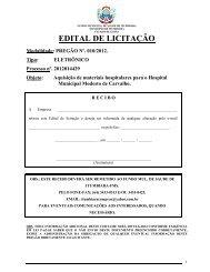 EDITAL DE LICITAÇÃO - Prefeitura Municipal de Itumbiara