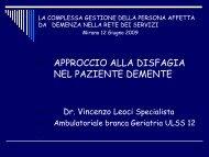 approccio alla disfagia nel paziente demente - Associazione Geriatri ...
