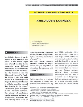 AMILOIDOSIS LARINGEA - Binasss