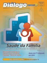 Diálogo - Conselho Regional de Fonoaudiologia da 1ª Região