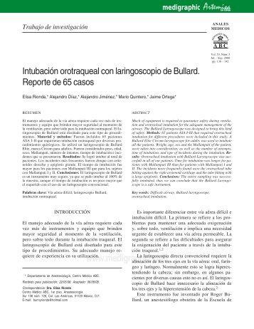 Intubación orotraqueal con laringoscopio de ... - edigraphic.com