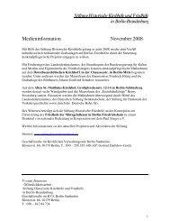 Medieninformation - Stiftung Historische Kirchhöfe und Friedhöfe in ...