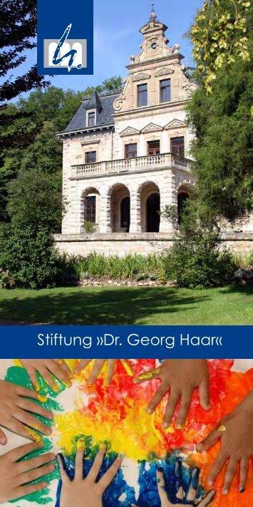 Stiftung »Dr. Georg Haar«