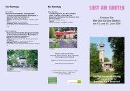 LUST AM GARTEN - Stiftung Historische Kirchhöfe und Friedhöfe in ...
