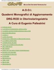 DRG-ROD IN OTORINOLARINGOIATRIA 05/09/2001 - AOOI