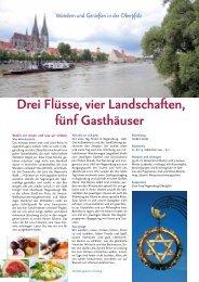 Drei Flüsse, vier Landschaften, fünf Gasthäuser - Erde und Wind
