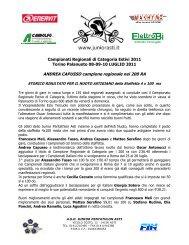 ANDREA CAPUSSO campione regionale nei 200 RA - asd junior ...