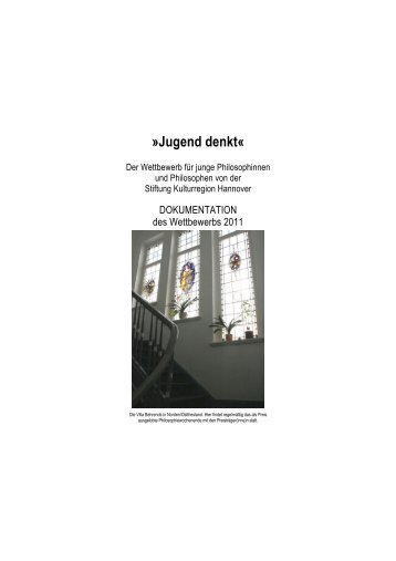 Dokumentation Jugend denkt 2011 - Stiftung Kulturregion Hannover