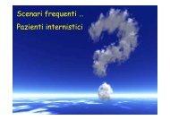 pazienti internistici - Pubblica Assistenza e Soccorso