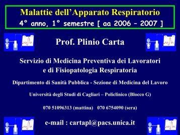 8: Broncopneumopatie occupazionali - Medicina - Università degli ...