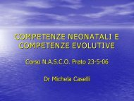 COMPETENZE NEONATALI E COMPETENZE EVOLUTIVE