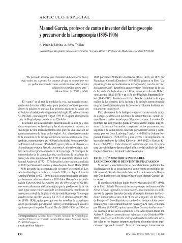 Manuel García, profesor de canto e inventor del laringoscopio y ...