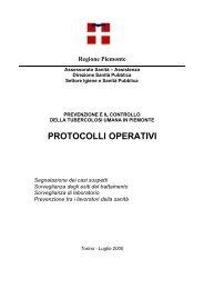 Protocolli operativi per la prevenzione e il controllo della ... - ASL AL