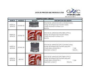 Equipos para Laringoscópia - GYC MEDICALS LTDA