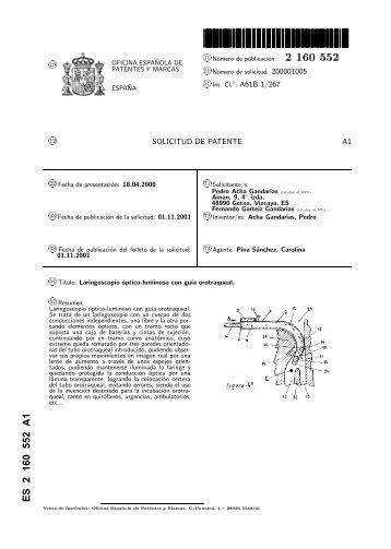 laringoscopio optico-luminoso con guia orotraqueal. - Inicio