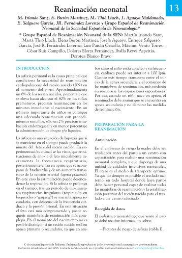 Reanimación neonatal - Asociación Española de Pediatría