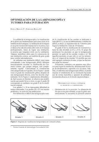optimización de la laringoscopía y tutores para intubación