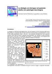 La disfagia oro-faringea nel paziente adulto con patologia neurologica