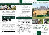 Flyer Dycker Baumpraxis 13. und 14. Juni 2013 - Der gesunde Baum