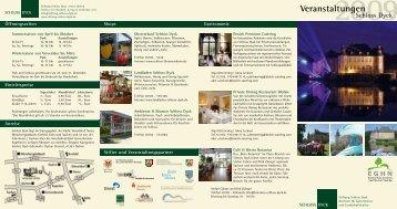 Veranstaltungen - Schloss Dyck