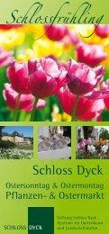 Flyer Schlossfrühling 2013 - Schloss Dyck