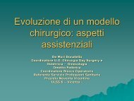 Evoluzione di un modello chirurgico: aspetti assistenziali