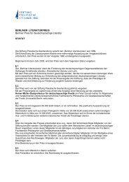 Berliner Literaturpreis - Stiftung Preußische Seehandlung