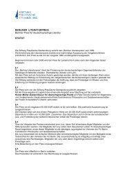 BERLINER LITERATURPREIS Berliner Preis für deutschsprachige ...