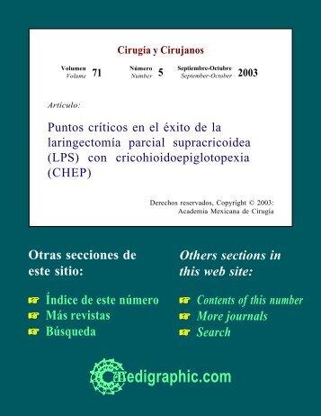 Puntos críticos en el éxito de la laringectomía ... - edigraphic.com