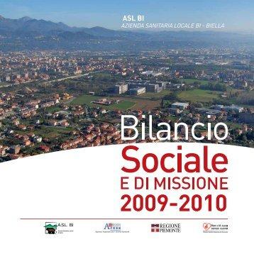 Bilancio Sociale e di Missione 2009-2010 - Asl BI