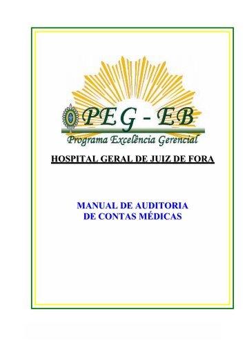 MANUAL DE AUDITORIA DE CONTAS MÉDICAS - Perícia Médica DF