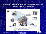 Arbeit des Tumorzentrums im St.-Johannes-Hospital beim Darmkrebs