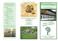 Ferienhaus-Flyer - Kinderheim St Kilian Walldürn