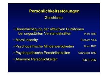 Persönlichkeitsstörungen - Denkprozesse.net